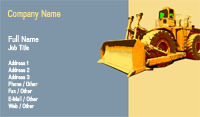 Bulldozer Business Card Template